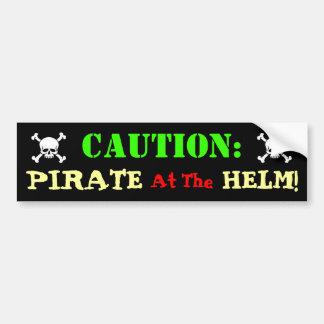 Pirate Driver Car Bumper Sticker