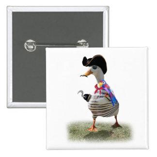 Pirate Duck 2 Inch Square Button