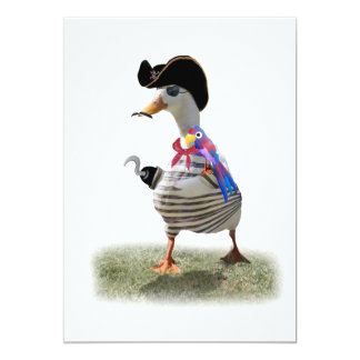 "Pirate Duck 5"" X 7"" Invitation Card"