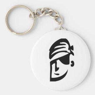 Pirate Dude Basic Round Button Keychain