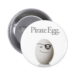 Pirate Egg Pinback Buttons