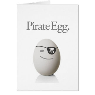 Pirate Egg Cards