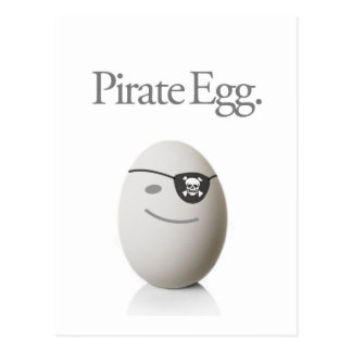 Pirate Egg Postcard