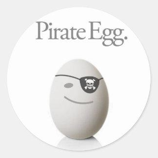 Pirate Egg Sticker