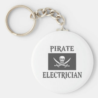 Pirate Electrician Keychain
