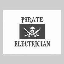 Pirate Electrician Postcard