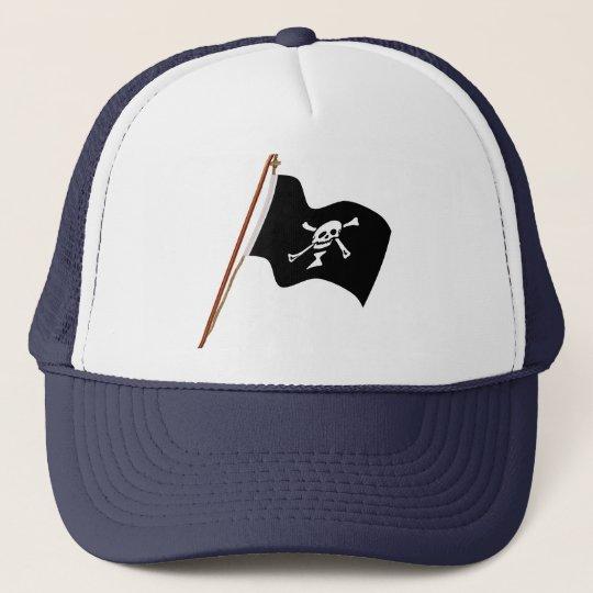 Pirate Emanuel Wynne Jolly Roger Flag Hoist Trucker Hat