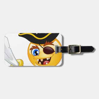 pirate emoji bag tag