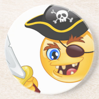 pirate emoji coaster