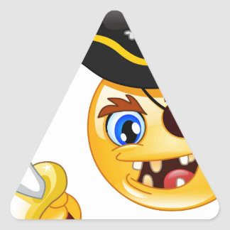 pirate emoji triangle sticker