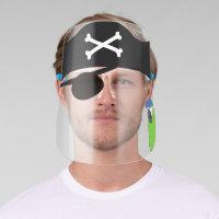 Pirate Eye Patch Hat Skull Crossbones Parrot Kids Face Shield