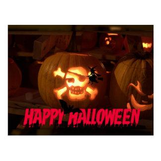 Pirate Face Pumpkin Postcard
