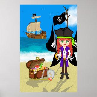 Pirate Faery with Treasure Chest Print