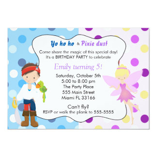 Pirate Fairy Birthday Invitation