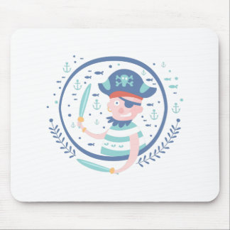 Pirate Fairy Tale Character Mouse Pad