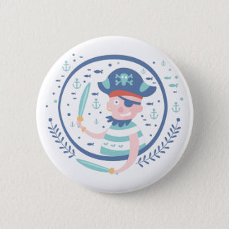Pirate Fairy Tale Character Pinback Button