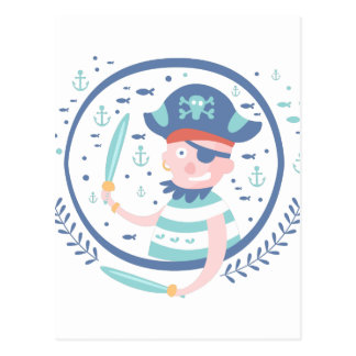 Pirate Fairy Tale Character Postcard