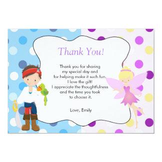Pirate Fairy Thank You Card Kids Birthday