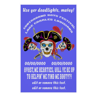 Pirate Find Me Booty! IMPORTANT Read About Design Poster