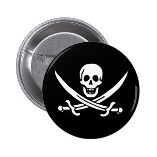 Pirate Flag 2 Inch Round Button