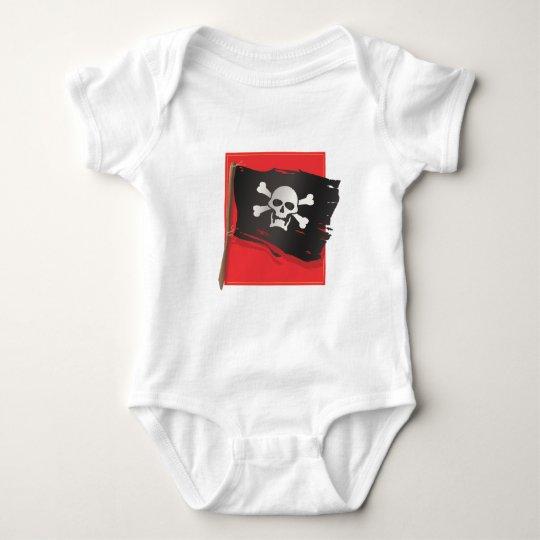 Pirate Flag Baby Bodysuit