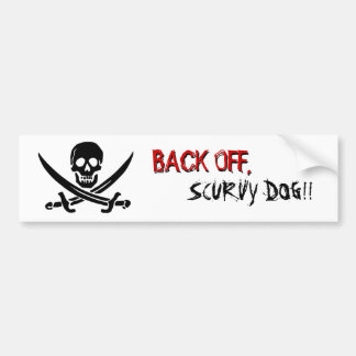 "Pirate Flag ""Back Off"" Bumper Sticker"