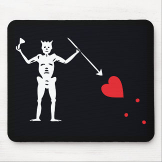 Pirate Flag Blackbeard Edward Teach Mouse Pad