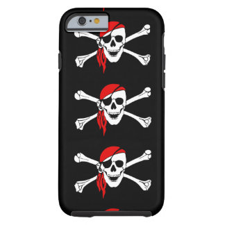 Pirate flag bones skull danger symbol Iphone6 Case