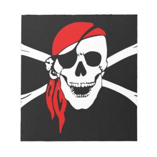 Pirate Flag Bones Skull Danger Symbol Notepad