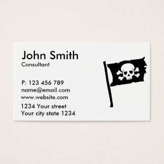 Pirate flag business card