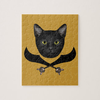 Pirate Flag Cat Jigsaw Puzzle