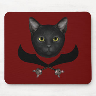 Pirate Flag Cat Mouse Pad