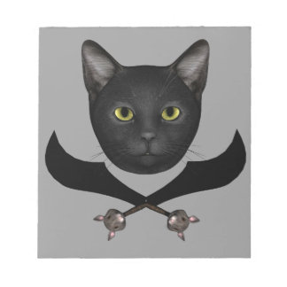Pirate Flag Cat Notepad