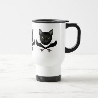 Pirate Flag Cat Travel Mug