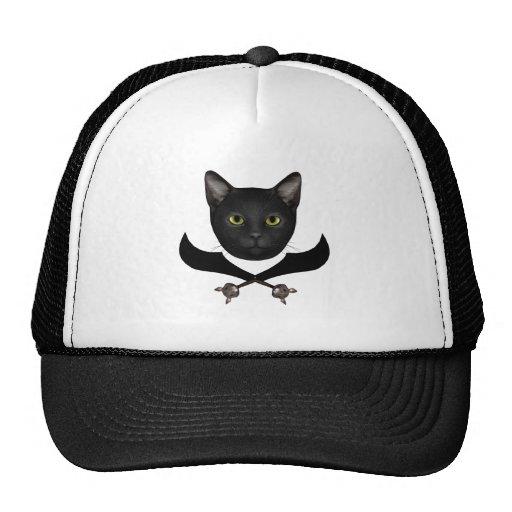 Pirate Flag Cat Trucker Hat
