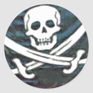 Pirate-Flag Classic Round Sticker