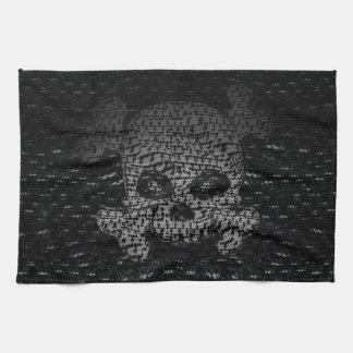 Pirate Flag Custom Hand Towel