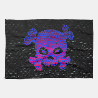 Pirate Flag Custom Purple Fade Blue bkg Towel