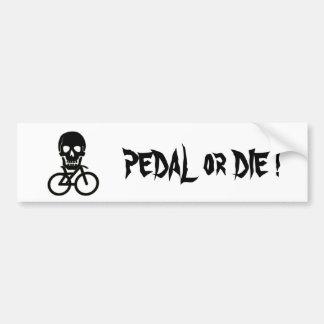 Pirate Flag Cyclist Bumper Sticker