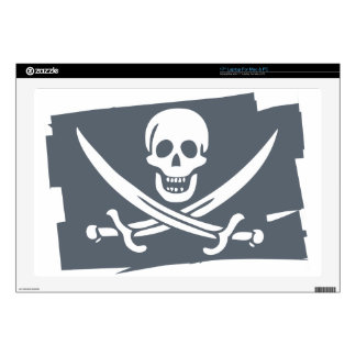"""PIRATE_FLAG DECALS FOR 17"""" LAPTOPS"""