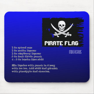 Pirate Flag Drink Recipe Mouse Pad