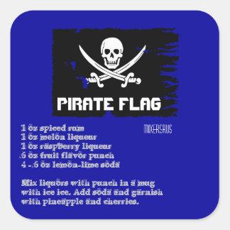 Pirate Flag Drink Recipe Stickers
