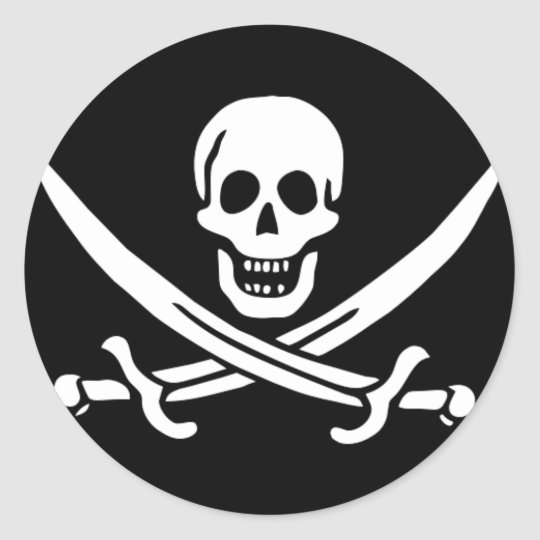 Pirate Flag Gifts Classic Round Sticker