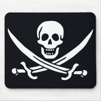 Pirate Flag Jack Rackham Mouse Pad
