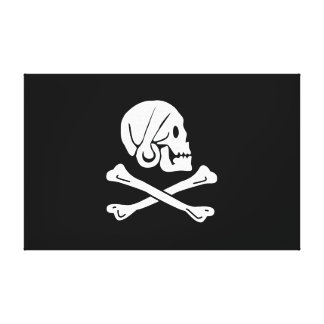 Pirate Flag - Jolly Roger Canvas Print