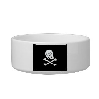 Pirate Flag - Jolly Roger Cat Food Bowl