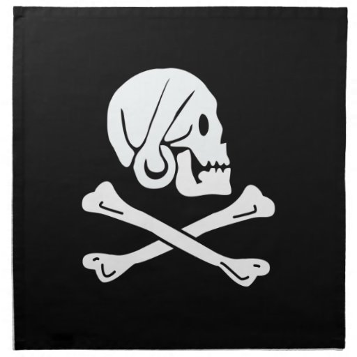 Pirate Flag - Jolly Roger Cloth Napkins