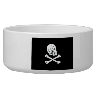 Pirate Flag - Jolly Roger Dog Water Bowl