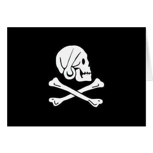 Pirate Flag - Jolly Roger Greeting Card