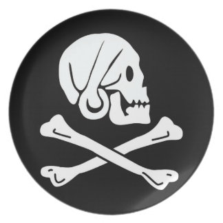 Pirate Flag - Jolly Roger Plate
